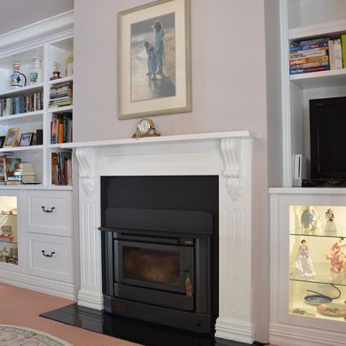 fire place, cabinet maker,